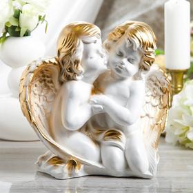 """Статуэтка """"Пара ангелов"""" 27 см, белая - фото 1700095"""