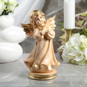 "Статуэтка ""Ангел молящийся"" 23 см, бежевая - фото 1520911"