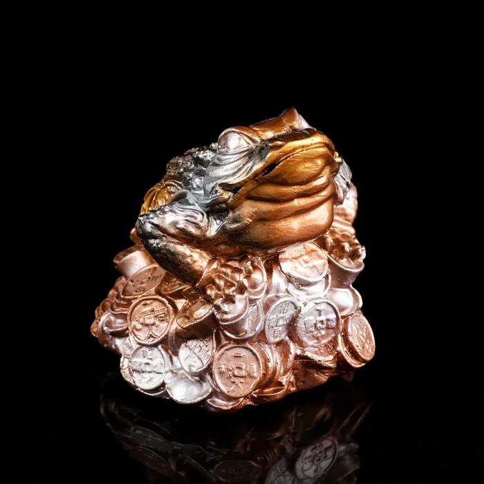 """Копилка """"Жаба"""", глянец, бронзовый цвет, 13 см"""