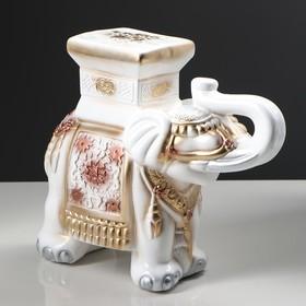 """Подставка декоративная """"Индийский слон"""", белый"""