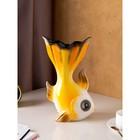 "Ваза настольная ""Золотая рыбка"" жёлтая, 35 см - фото 1703461"