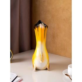 "Ваза настольная ""Золотая рыбка"" жёлтая, 35 см - фото 1703462"
