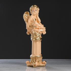 "Статуэтка ""Ангел на колонне"", бежевая, 52 см"