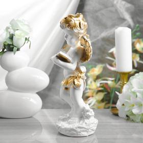 """Статуэтка """"Ангел с книгой"""" белый, 32 см - фото 1700202"""