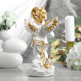 """Статуэтка """"Ангел с книгой"""" белый, 32 см - фото 1700203"""
