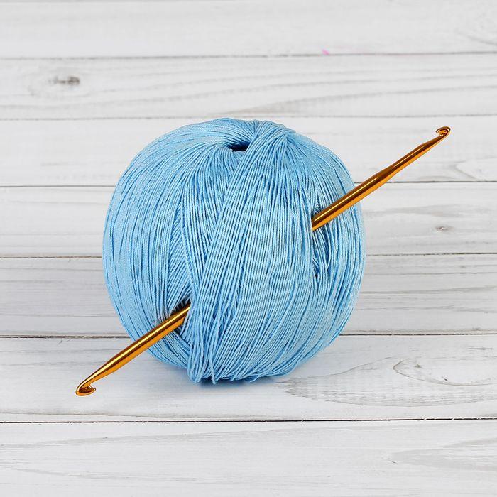 Крючок для вязания металлический, двухсторонний, d=3-4мм, 13см