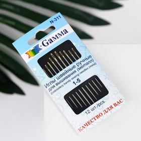 Needles for embroidery, 12 pcs, No. 1-5.