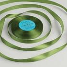 Лента атласная, 12 мм, 33±2 м, №085, цвет серо-зелёный
