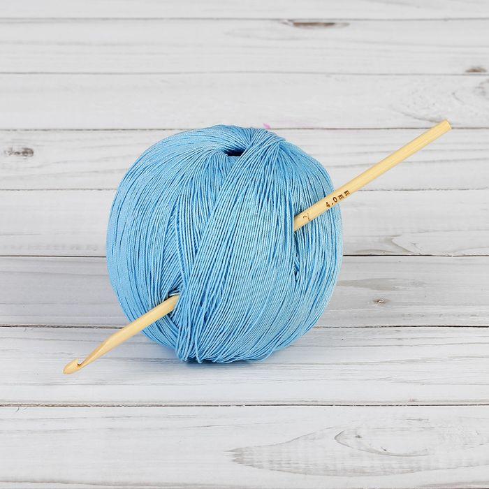 Крючок для вязания бамбуковый, d=4мм, 15см