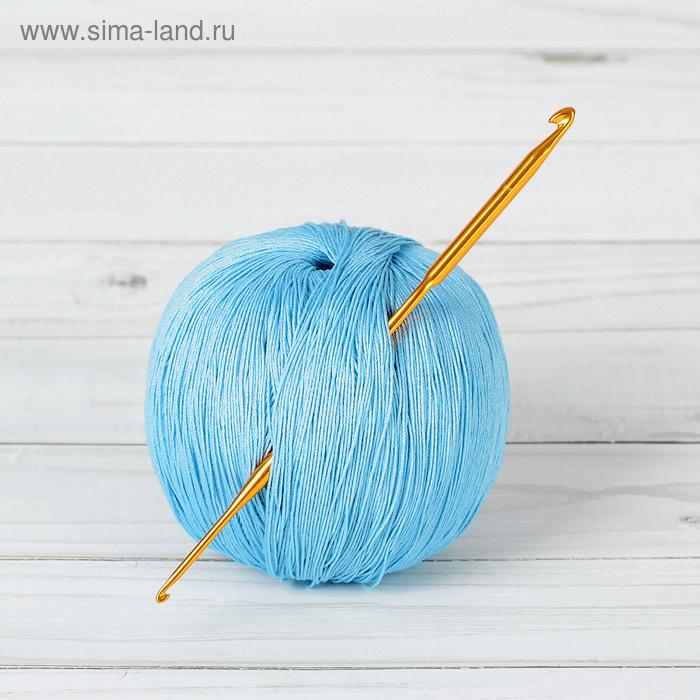 Крючок для вязания металлический, двухсторонний, d = 2 - 4 мм, 13 см