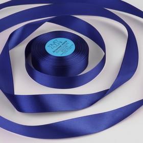 Лента атласная, 25мм, 33±2м, №094, цвет синий Ош