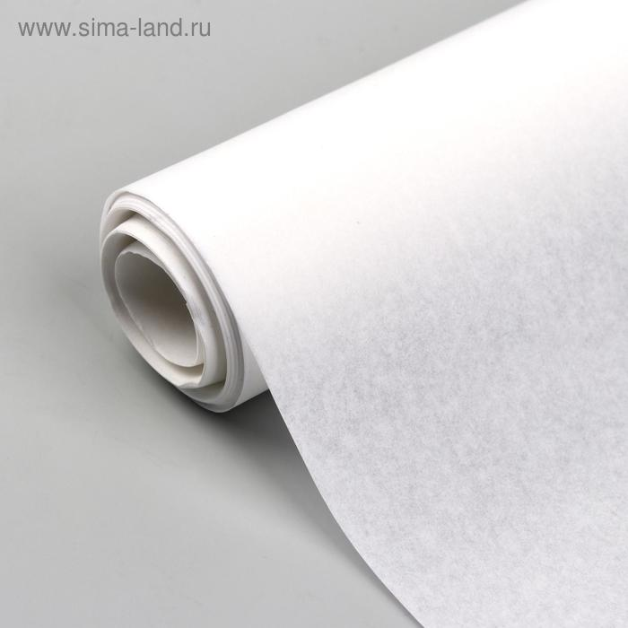 Калька 30г/кв.м, ширина - 42см, 15 м, цвет белый