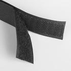 Лента-липучка, ширина 20мм, 5±1м, цвет чёрный