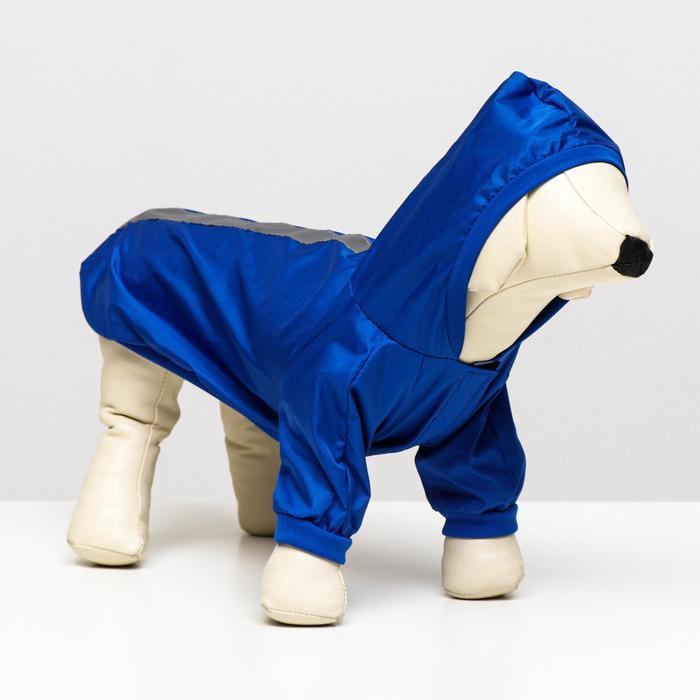Куртка-ветровка со светоотражающими полосками, размер L (дс - 28 см, ог - 36 см), микс цветов