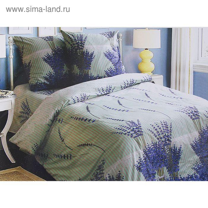 "Постельное бельё Блакит ""Лаванда"" 2 сп., размер 215х175 см, 220х210 см, 70х70 см - 2 шт., 120 г/м2"