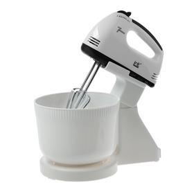 Миксер электрический Irit IR-5434, 150 Вт, 2 насадки, 7 скоростей, чаша 2 л, белый