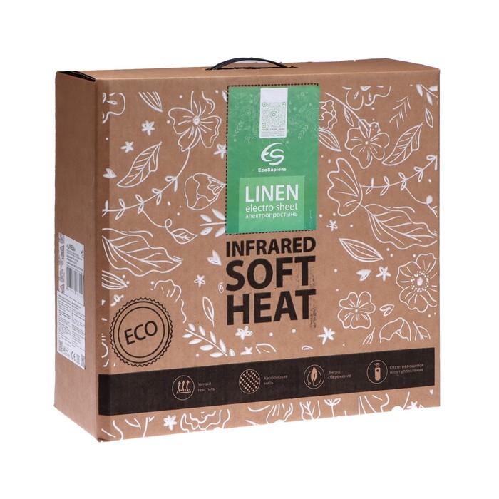 Электропростынь EcoSapiens ES-412 Linen, хлопок, 150х90 см