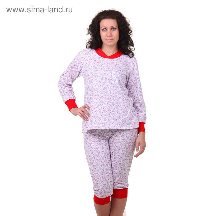 Пижама женская (кофта, бриджи) 98 МИКС, р-р 48
