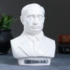 Бюст Путин средний белый 16 см