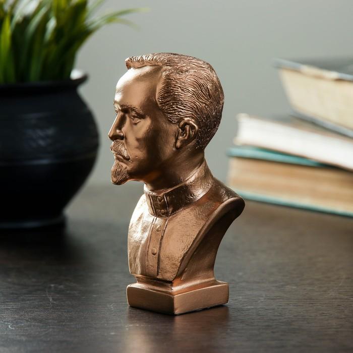 Бюст Дзержинский малый бронза 12 см