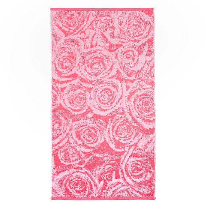 Полотенце махровое банное Pink Roses, размер 70х130см, 460 г/м2, цвет розовый