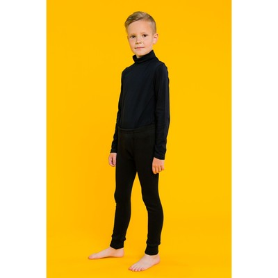 Кальсоны для мальчика, рост 104 см, цвет черный