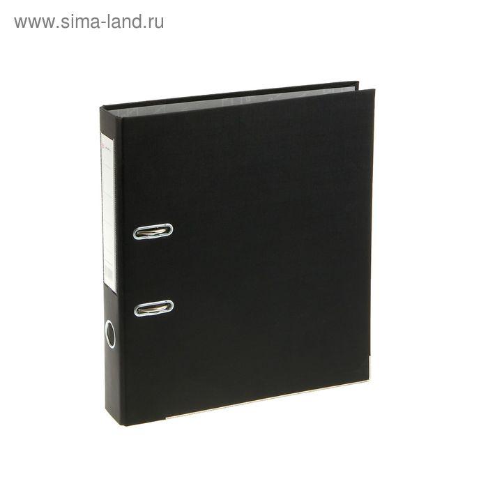 Папка-регистратор А4, 50мм Lamark ПВХ черный, металлическая окантовка, карман, разобрный