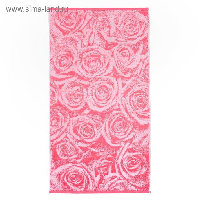 Полотенце махровое Pinc Roses, размер 50*90см, 460 гр/м2, цвет розовый