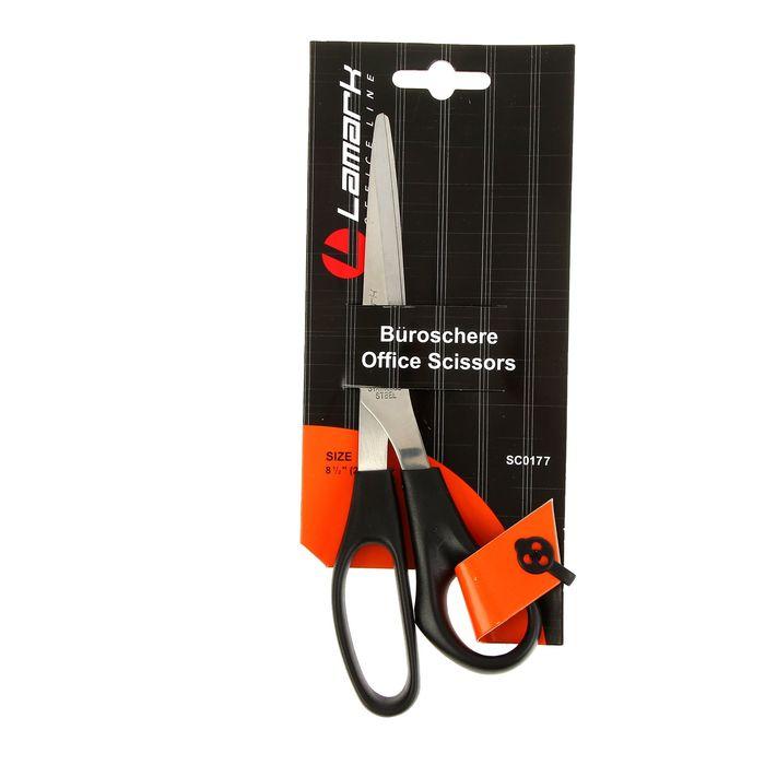 Ножницы Lamark 21,6см пластиковые ручки, для правой и левой руки
