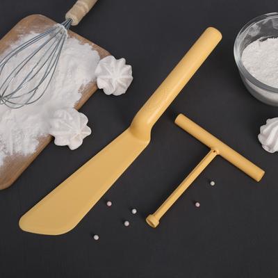 Набор кулинарный 2 предмета: лопатка для блинов 32 см, распределитель теста 13 см