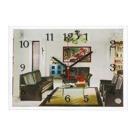 Часы настенные прямоугольные 'Интерьер', 25х35 см микс Ош