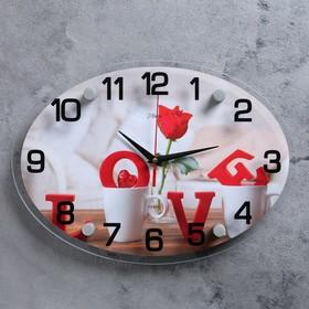 """Часы настенные, серия: Люди, """"LOVE"""", 24х34  см, микс"""