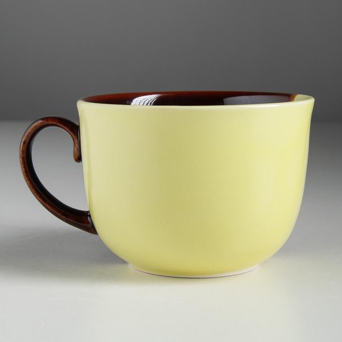 "Бульонница ""Аппетитка"" жёлто-коричневая, 0,5 л"