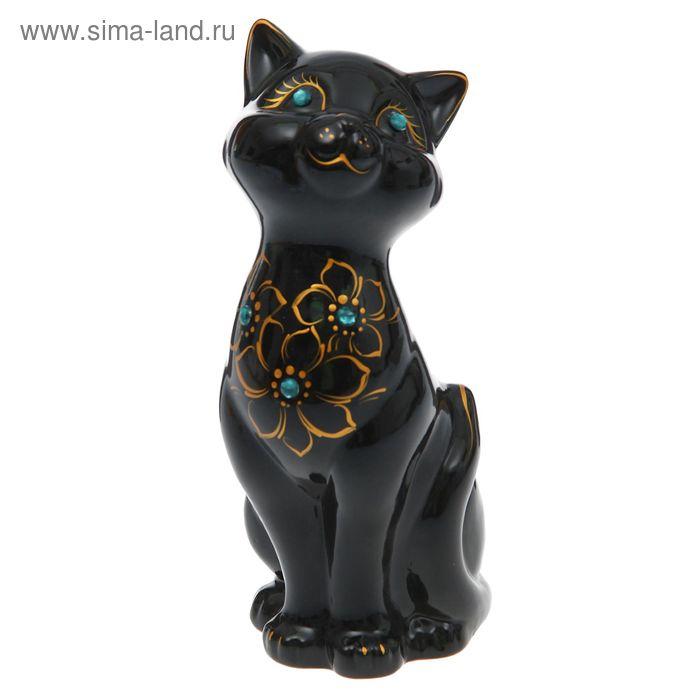 "Копилка ""Кошка Лола"" глянец, чёрная"