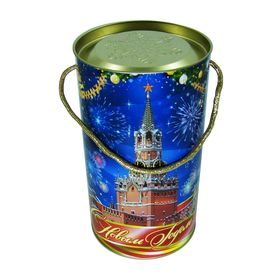 Подарочная коробка, тубус 'Куранты' 12х22 см Ош