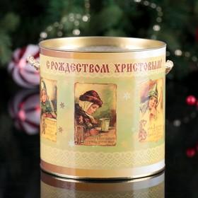 Подарочная коробка, тубус 'Рождество малая' 12х12 см Ош