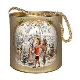 Подарочная коробка, тубус 'Рождественские колокольчики' 12х12 см Ош