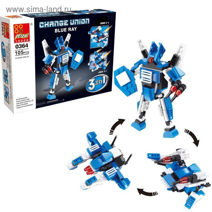"""Конструктор """"Робот"""", 3 варианта сборки, 105 деталей"""