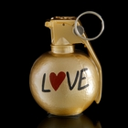 """Держатель для карточек и фото """"Лимонка. Love"""", цвет золотой"""