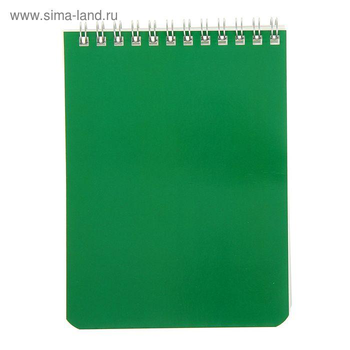 "Блокнот А6, 60 листов на гребне ""Зеленый"""