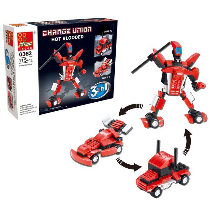 Конструктор «Робот», 115 деталей, 3 варианта сборки