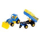 Трактор «Крепыш», с прицепом №2 и ковшом, цвета МИКС - фото 105650183
