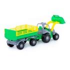 Трактор «Крепыш», с прицепом №2 и ковшом, цвета МИКС - фото 105650184