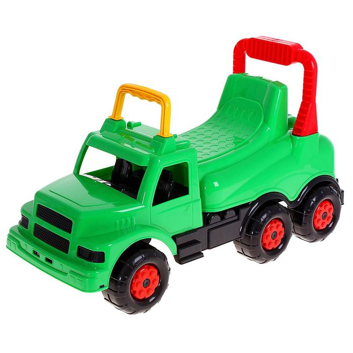 """Толокар для мальчиков """"Весёлые гонки"""", цвет зелёный"""