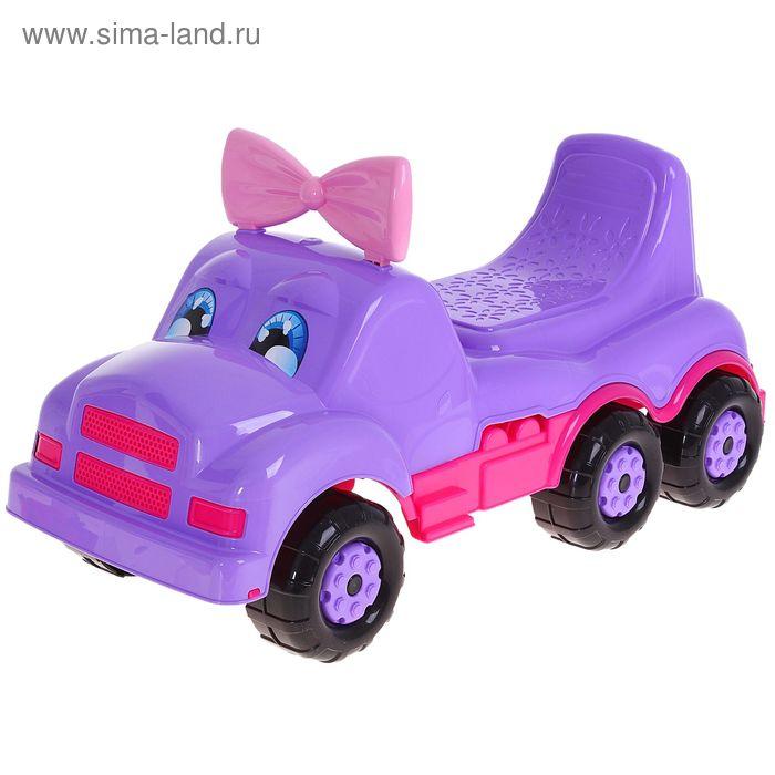 """Толокар для девочек """"Весёлые гонки"""", цвет фиолетовый"""