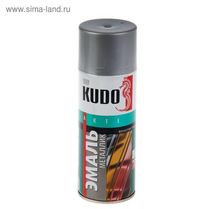 Эмаль металлик  универсальная Kudo алюминий, 0,52л