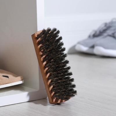 Щетка для обуви 80 пучков, натуральный волос, цвет черный