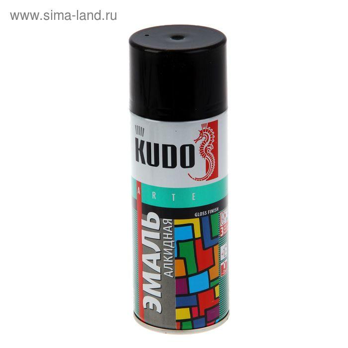 Эмаль алкидная  универсальная Kudo черная, глянцевая, 0,52л