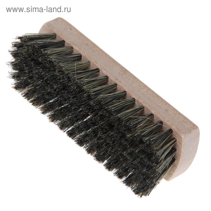Щетка для обуви 107 пучков, натуральный волос, цвет черный