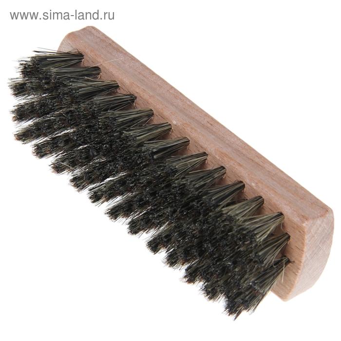 Щетка для обуви 87 пучков, натуральный волос, цвет черный